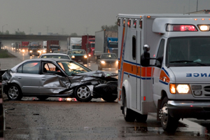 Wind Gust Causes Car to Crash in Winters, Four People Injured